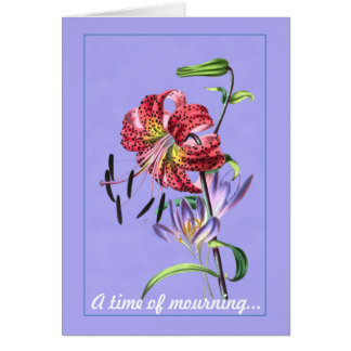 A Time of Mourning-Sympathy Card