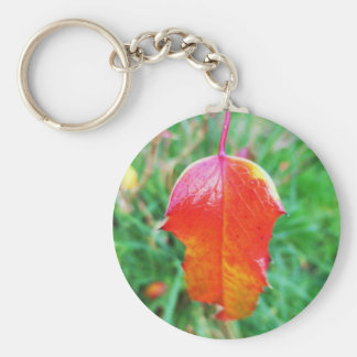 A Touch of Autumn Basic Round Button Key Ring