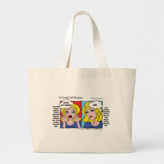 """A Touch of Humor"" Unshaven Legs Comic Jumbo Tote Bag"