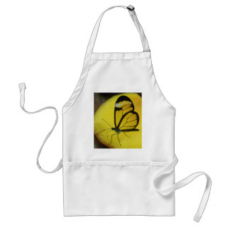 a touch of lemon - clearwing butterfly standard apron
