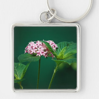 A Touch of Pink in the Green Keychain