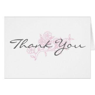 A touch of pink Thank You Note Card