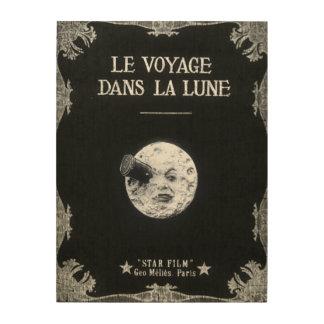 A Trip to the Moon or Le Voyage dans la Lune Wood Canvas