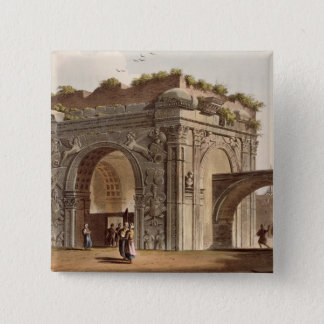 A Triumphal Arch of Tripoli in Barbary, plate 24 f 15 Cm Square Badge
