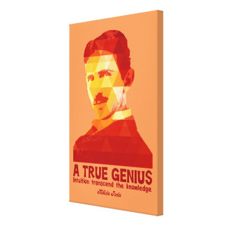 A True Genius -Nikola Tesla- Canvas Print
