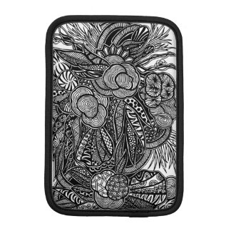 A unique Gardens #7 hand drawn iPad mini sleeve