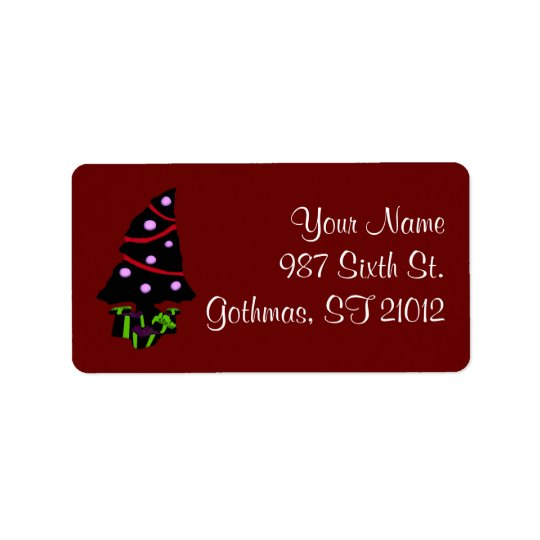 A Very Gothy Christmas Address Label