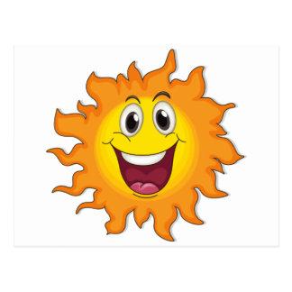 A very happy sun postcard