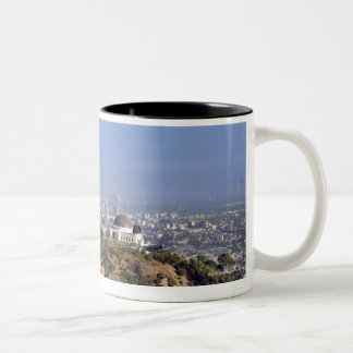 A view from a hiking trail in Griffith Park Two-Tone Coffee Mug