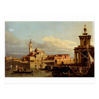 A View In Venice From The Punta Della Dogana Towar Postcard