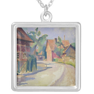 A Village Street Silver Plated Necklace