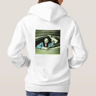 A Vintage Japanese Geisha Peeking Through a Blind Hoodie