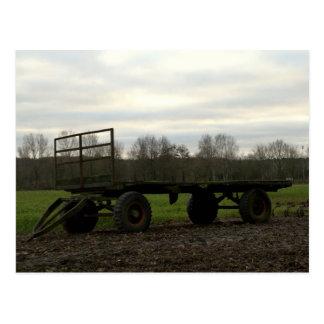 A wagon in a Dutch meadow Postcard