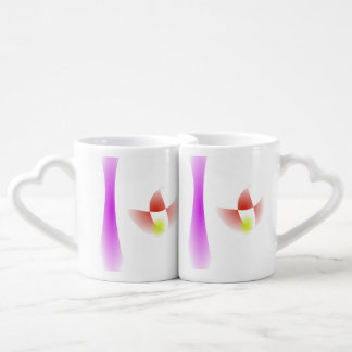 A Waterfall and a Flower Lovers Mugs