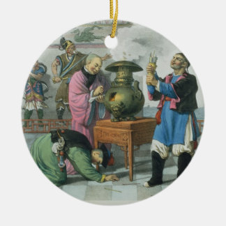 A Way of Telling the Future, engraved by Mlle. For Christmas Ornament