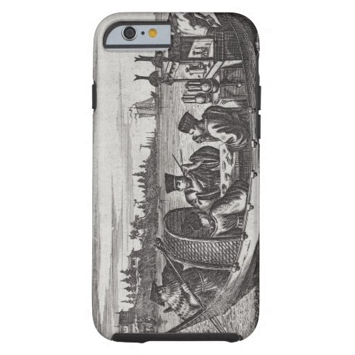 A Wealthy Mandarin Dining in a Boat, illustration iPhone 6 Case