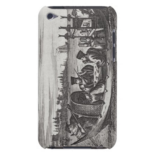 A Wealthy Mandarin Dining in a Boat, illustration iPod Touch Cases