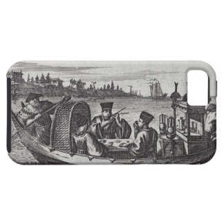 A Wealthy Mandarin Dining in a Boat, illustration iPhone 5 Cases