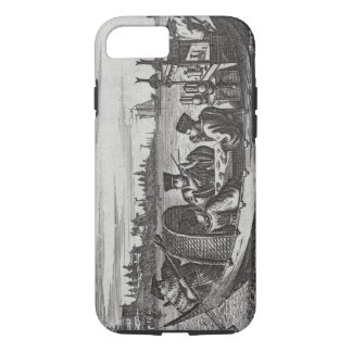 A Wealthy Mandarin Dining in a Boat, illustration iPhone 7 Case