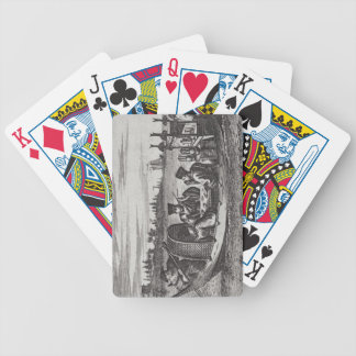A Wealthy Mandarin Dining in a Boat, illustration Playing Cards