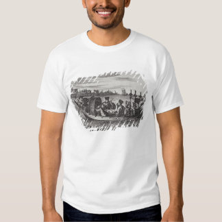 A Wealthy Mandarin Dining in a Boat, illustration Shirt