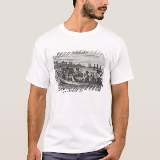 A Wealthy Mandarin Dining in a Boat, illustration T-Shirt