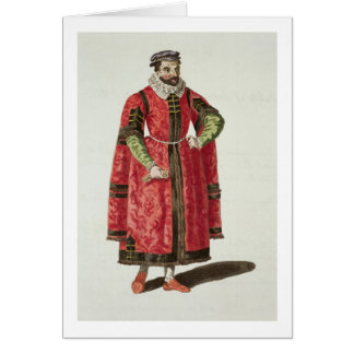 A Wealthy Merchant of London in 1588 (engraving) Greeting Card