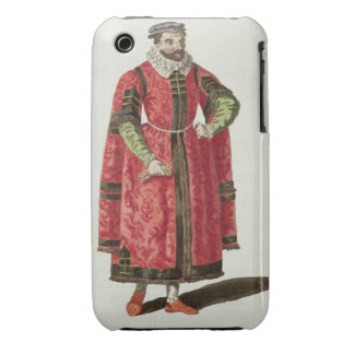 A Wealthy Merchant of London in 1588 (engraving) Case-Mate iPhone 3 Cases