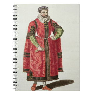 A Wealthy Merchant of London in 1588 (engraving) Note Books