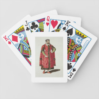 A Wealthy Merchant of London in 1588 (engraving) Bicycle Poker Cards