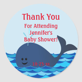 A Whale Of A Baby Shower Sticker