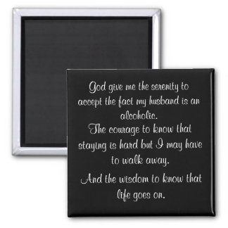 A wife's serenity prayer magnet