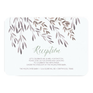 A Wildflower Wedding Reception Enclosure Card