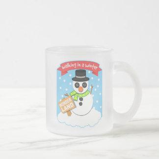 A Winter Wonderland II Frosted Glass Mug