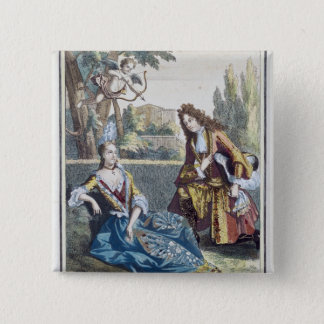 A Woman Seated on the Grass 15 Cm Square Badge