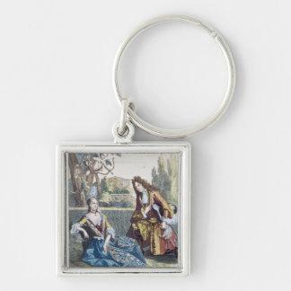 A Woman Seated on the Grass Key Ring