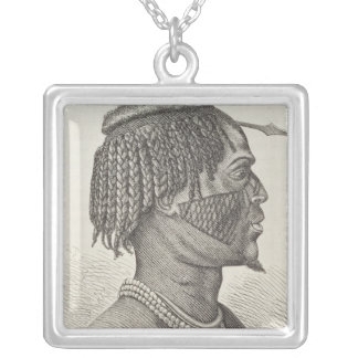 A Zandeh from The History of Mankind Silver Plated Necklace