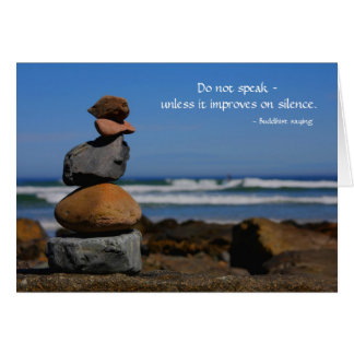 A zen thing with Buddhist saying Card
