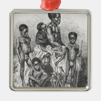 A Zulu family from The History of Mankind Christmas Ornament