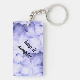 AA member gift keychain keep it simple purple