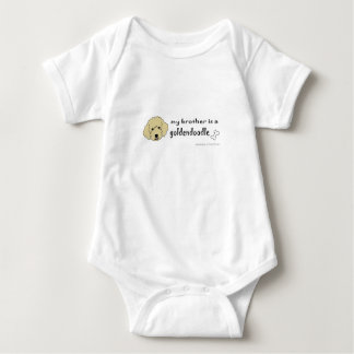 aaaoct6d my brother is a goldendoodle -more breeds baby bodysuit
