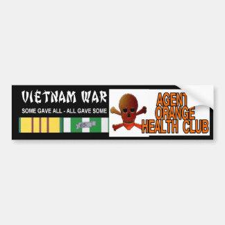 aAGENT ORANGE HEALTH CLUB Bumper Sticker