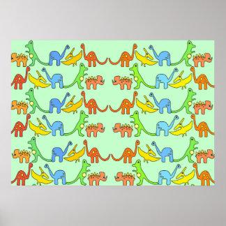 AB Dinosaur Poster/ Baby 4 Life Poster