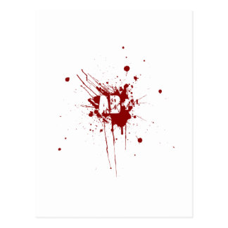 AB positive Blood Type Donation Vampire Zombie Postcard