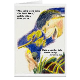 Aba Daba Honeymoon card