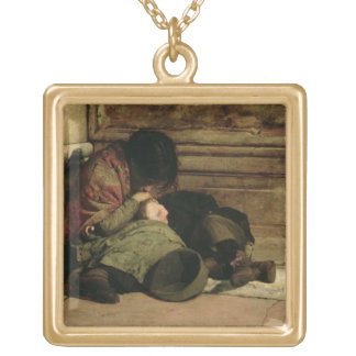 Abandoned, 1903 gold plated necklace