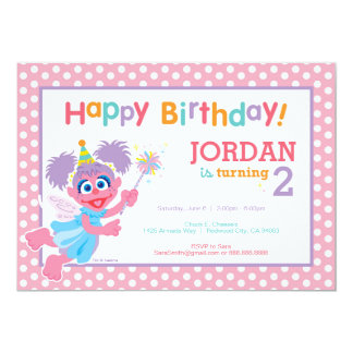 Abby Birthday 13 Cm X 18 Cm Invitation Card