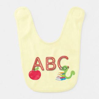 ABC Neon Letters Bookworm Bib