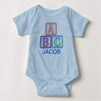 ABC Play Blocks with Customizable Text Baby Bodysuit