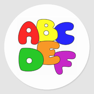 ABC's Classic Round Sticker